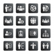 Business management and human resource icons — Stock Vector