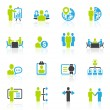 Business management and human resource icons — Stock Vector #36143353