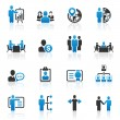 Business management and human resource icons — Stock Vector #36143357