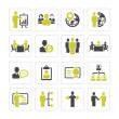 Business management and human resource icons — Stock Vector #36143391