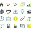 Web icons set vector — Stock Vector