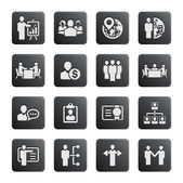 Business management and human resource icons — Vettoriale Stock