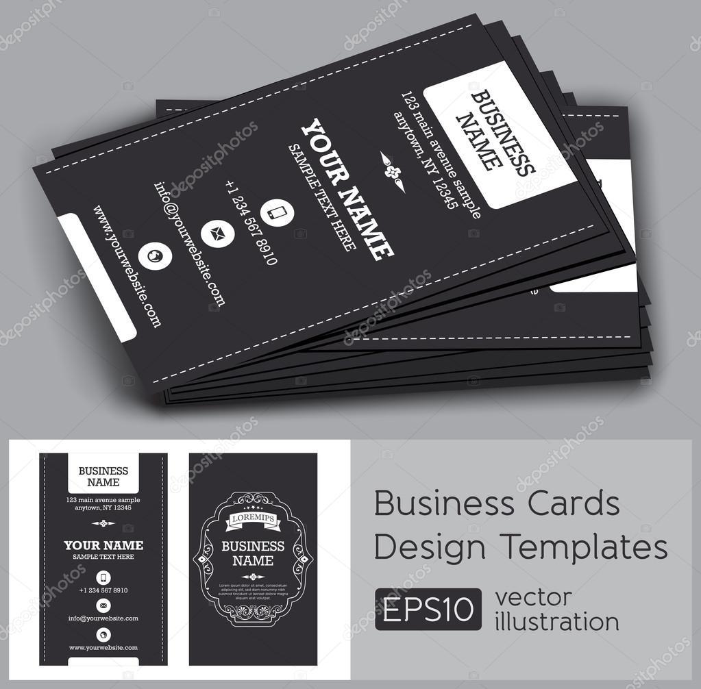 Vector retro vintage business card — Stock Vector
