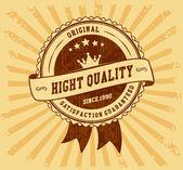 Vintage badge label — Stockvektor