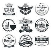 Sada retro vintage odznaky a štítky — Stock vektor