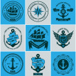 Set Of Vintage Retro Nautical Badges And Labels — Stock Vector #37751745