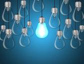 Idea concept with light bulbs — Stock Vector