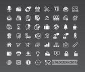 Iconos de la web para los negocios, las finanzas y la comunicación — Vector de stock
