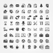 Web ikoner för affärs-, finans- och kommunikation — Stockvektor