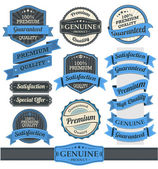 Ribbons and Badges Vector — Stockvektor
