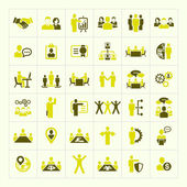 Human resources and management icons set — Stockvektor