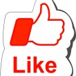 Stock Vector: Facebook like button