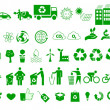 Stock Vector: Ecology, environment, recycle icons signs set
