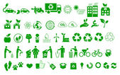 Ecology, environment, recycle icons signs set — Stock Vector