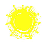 Sun vector — Stock Vector