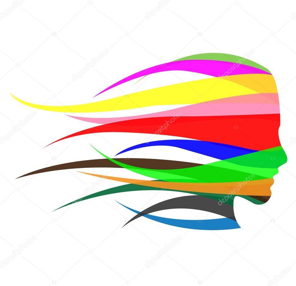 девушка логотип: