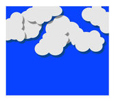 Paper white clouds on blue — Stock Vector