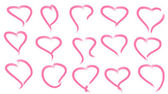 Scribble hearts set — Stock Vector