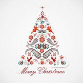 Stylized design Christmas tree — Stock Vector