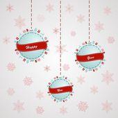 Merry Christmas ball design. Vector.Ilustration — Stock Vector