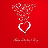 Happy Valentine's Day lettering Greeting Card on red — Stock Vector