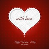 Elegant Valentine's Day background with a Shiny Heart — Vector de stock