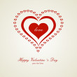 Heart Valentine's day card — Stock Vector #37544123
