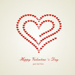 Heart Valentine's day card — Stock Vector