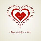 Carta di san valentino cuore — Vettoriale Stock