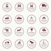 Transportation icons design elements with text — Stockvektor