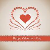 Szczęśliwy Walentynki kartkę z życzeniami napis — Wektor stockowy