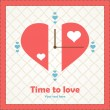 Stock Vector: Watch my meaning about love for Valentine's Day.