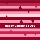 Striped seamless background with hearts — Cтоковый вектор