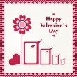 Happy valentines day. Bird love card. — Stock Vector #38252865
