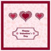 Happy valentines day with cherry and heart. — Stock Vector