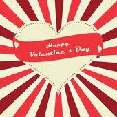Happy Ημέρα του Αγίου Βαλεντίνου γράμματα ευχετήρια κάρτα — Διανυσματικό Αρχείο