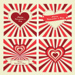 Happy Valentine's Day lettering Greeting Card. Set of cards. — Stock Vector #38570225