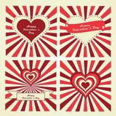 Happy Valentine's Day lettering Greeting Card. Set of cards. — Stock Vector
