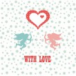 Happy Valentines day - greeting card — Vector de stock