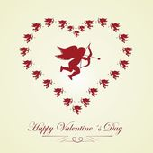 Happy Valentines day - greeting card — 图库矢量图片