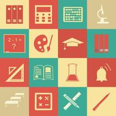 Vector seamless pattern with education icons - abstract — ストックベクタ