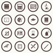 Vector seamless pattern with education icons - abstract — Vector de stock