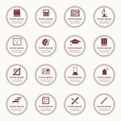 Vector seamless pattern with education icons - abstract — Wektor stockowy