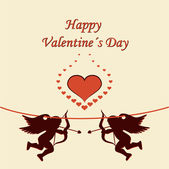 Vacances cadre joyeux saint valentin — Vecteur