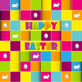 Happy easter cards illustration retro vintage with easter egg a — Stock Vector
