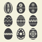 Set easter egg for your design — Stock Vector