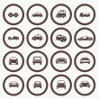 Cars icons set different vector car forms. — Stock Vector #41662049