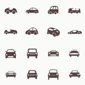 Cars icons set different vector car forms. — Stockvektor
