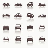 Cars icons set different vector car forms. — ストックベクタ