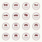 Cars icons set different vector car forms. — Stock Vector